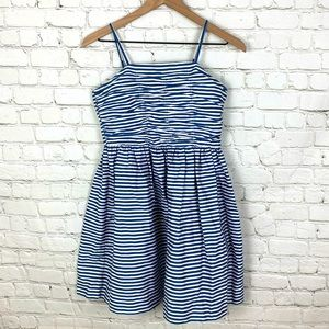 Polo Ralph Lauren Blue & White Striped Girls Dress